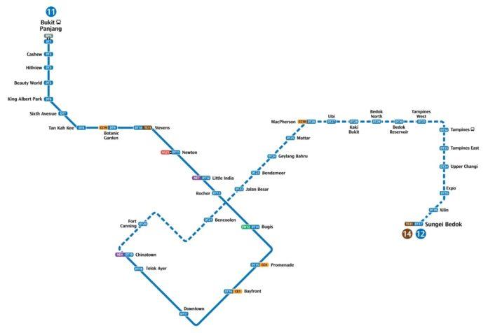 新加坡downtown line MRT即将开通