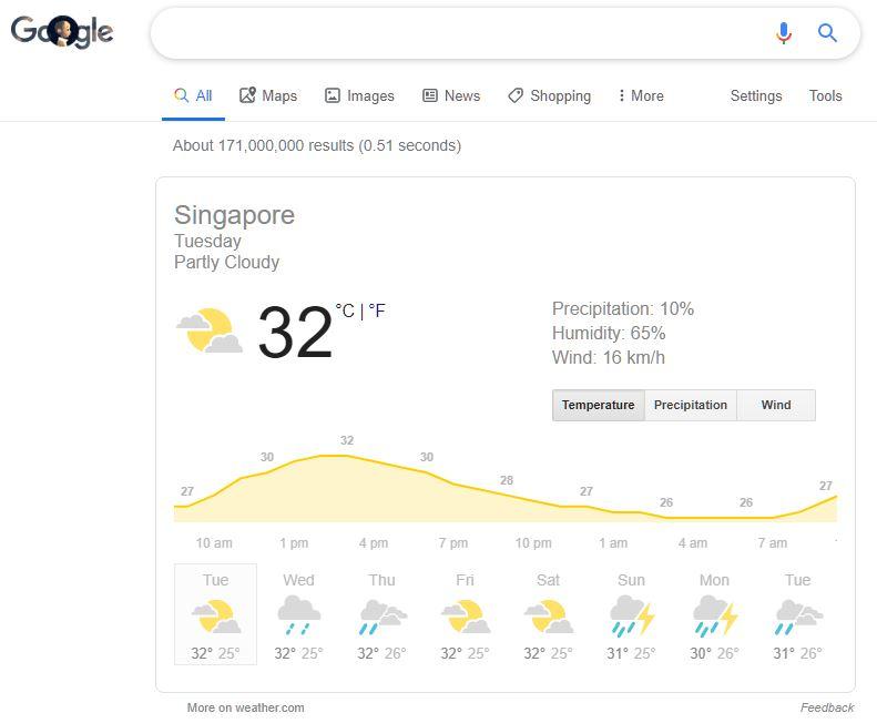 谷歌天气预报weather.com